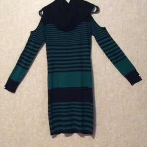 Sweaters - Cozy Cold Shoulder Sweater Dress